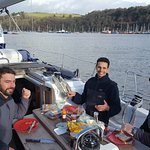 Moored in Dartmouth having picnic lunch in January