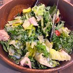 Caesar's salad with duck meat