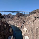 View of the bridge from the Hoover Dam
