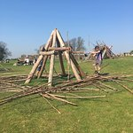 Great den building for the kids