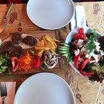 Siva Cafe kofte meatballs and Greek salad