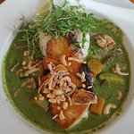 Swordfish in green curry
