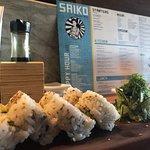 Sushi rolls at Saiko Sushi