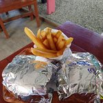 Nice big burgers and delicious fries