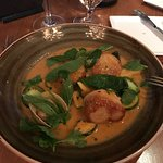 Scallops with clam and zucchini
