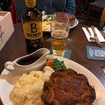 Delicious steak and ale pie