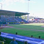 The first pitch of the game was thrown by LumberKings pitcher, Oliver Jaskie, to Dayton Dragons