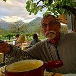 Great views, cheese fondue!!