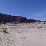acercamiento al paredón del cañón de Talampaya