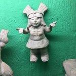 Pre Colombian female clay figure