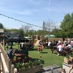 Fantastic beer garden and play area