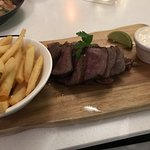 Wagyu Steak with Chips & Aioli (meant to be served with Kumara)