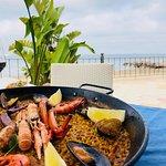 paella & beach views