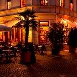 Café Frauentor in Weimar an einem lauen Sommerabend