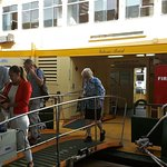 Passengers off the ferry