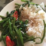 Morning Glory (Water Spinach) with Rice