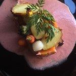 Côte de cochon aux petits legumes