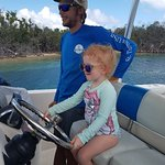 The kids loved driving the boat!