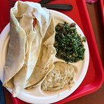 Gyros, tabouli and baba ganouj