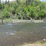 River behind Na-Bers Drive-In