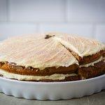 Homemade cappucino cake