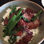 Mongolian beef lunch and Spare Ribs appetizer