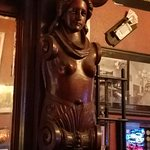 One of many carvings at the bar