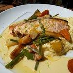 un saumon polenta excellent
