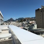 Vistas desde la terraza del hotel! Muy linda, es para aprovechar mucho más si tuviera un bar!
