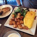 omelette & toast