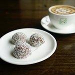 Romanian Coffee Coconut Balls.
