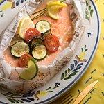 5月限定 アーリーサマーイタリアンブッフェ サーモンと野菜の紙包み焼き