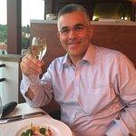 Enjoying the wine flight and Degustation Menu