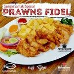 samakisamaki special Prawns Fidel prawns with a littl samakisamaki flavor