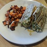 Chicken Pita with sweet potatoes
