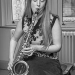 Sax player at the Waun Wyllt