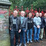 Me and my sons and my brothers visiting Strawberry Field as part of Jackie Spencer's tour.