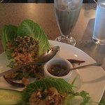 Lettuce wraps and pork belly soup