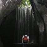 """""""Tukad Cepung Waterfall"""" located in hidden cannyon."""