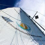 Sails Up! Get this spectacular view of clouds passing by while laying down & relaxing on our cru