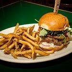 Amazing gourmet burgers feature, fresh, house ground premium hormone free beef