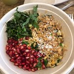 Thai Bowl with addition of pomegranate