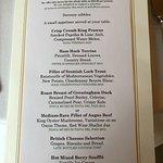 Tasing menu