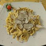 Fettuccine with mushroom & truffle