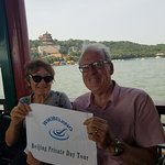 Lovely couples from New Zealand on the Dragon Boat inside Summer Palace