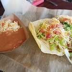 Tacos with Refried Beans and Rice