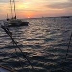Aruba sunset taken on the sail.