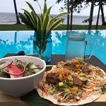 Fish Taco's by the Pool