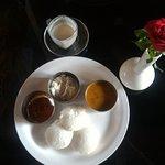 Breakfast idli and Sambar