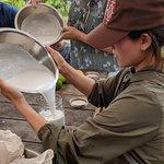 Making Coconut Milk!
